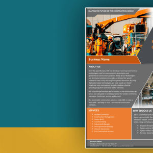 Construction Company Marketing brochure template