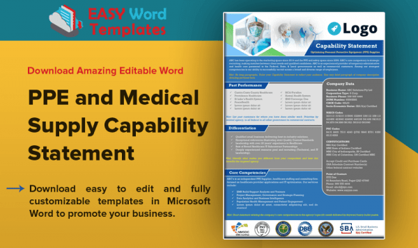 PPE and Medical Supply Capability Statement_G2