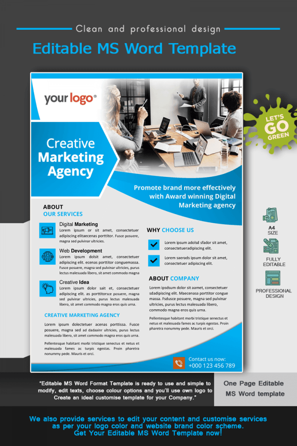 Digital marketing agency flyer_ template