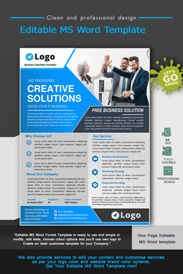 Business Solution MS Word Template